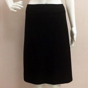 NWT Eileen Fisher Black Fold Over Crepe Skirt